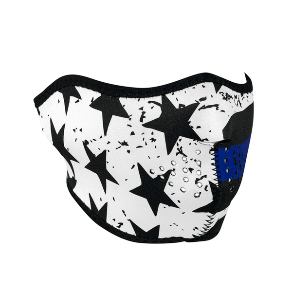 WNFM171H ZAN® Half Mask- Neoprene- Thin Blue Line | Half Facemasks