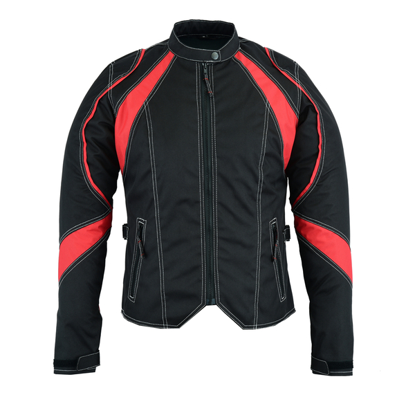 DS826RD Women's Embroidered Crown Riding Jacket - Red | Women's Jackets