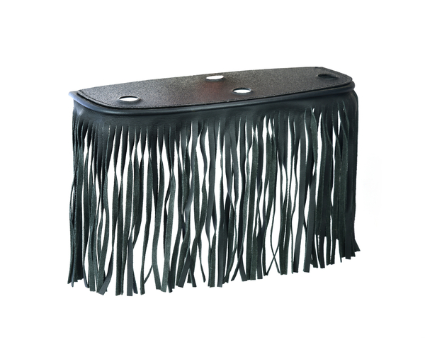 B1005 Black Leather Floor Boards with Fringe - Large | Lever Covers & Floor Boards