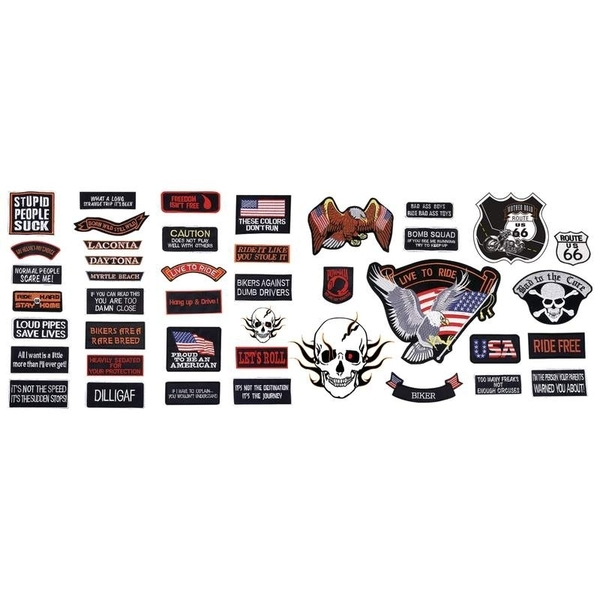 GFPATCH42 42PC Embroidered Patch Set | Patches