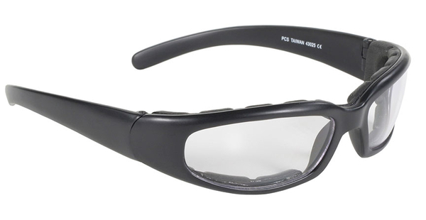 43025 Rally Wrap Padded Blk Frame/Clear Lens | Sunglasses