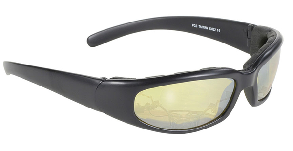 43022 Rally Wrap Padded Blk Frame/Yellow Lens | Sunglasses