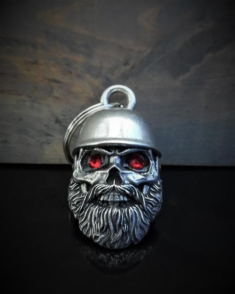 BB-110 Helmet Skull Biker Diamond Bell | Bravo Bells