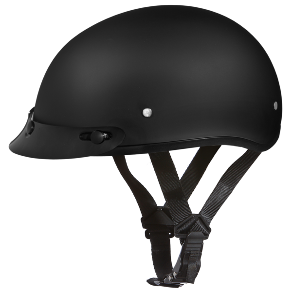D1-B D.O.T. DAYTONA SKULL CAP - DULL BLACK | 1/2 Shell Helmets