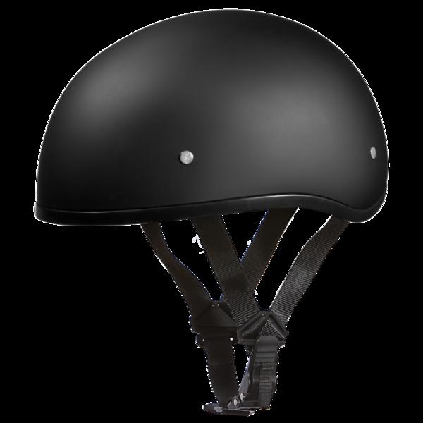 D1-BNS D.O.T. DAYTONA SKULL CAP W/O VISOR - DULL BLACK | 1/2 Shell Helmets