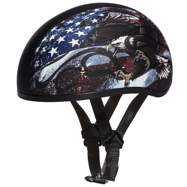D6-USA D.O.T. DAYTONA SKULL CAP - W/ USA | 1/2 Shell Helmets