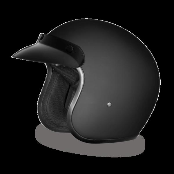 DC1-B D.O.T. DAYTONA CRUISER - DULL BLACK | 3/4 Shell Helmets