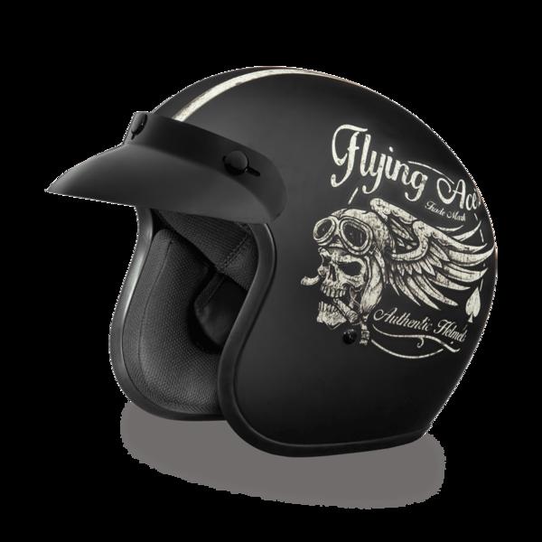 DC6-FAC D.O.T. DAYTONA CRUISER - W/ FLYING ACE'S | 3/4 Shell Helmets
