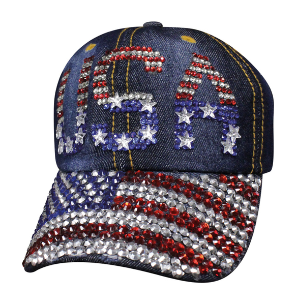 SBLUSF Denim USA Bling | Hats