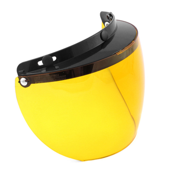 02-207 3 Snap Flip Shield - Hard Coated Amber | Helmet Accessories