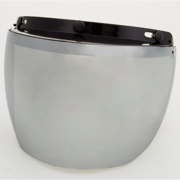 02-211 3 Snap Flip Shield - Hard Coated Silver Mirror | Helmet Accessories