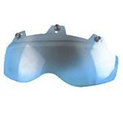 02-312 3 Snap Shorty Shield - Hard Coated Blue Mirror | Helmet Accessories