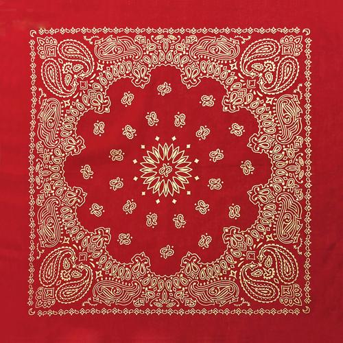 BD2519 Red Metalic Paisley | Bandanas
