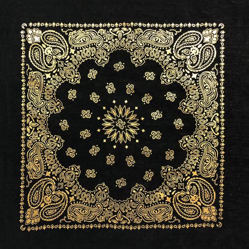 BD2520 Black Gold Metalic Paisley | Bandanas