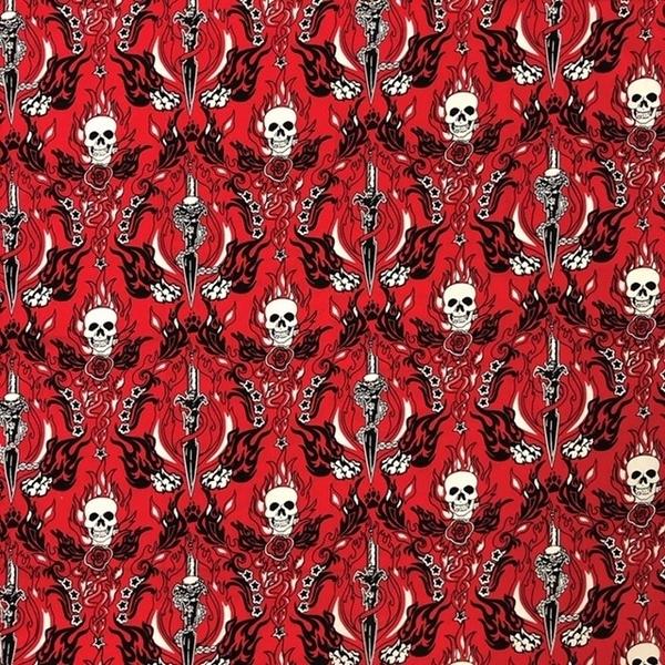 NT4418 Red Skull & Daggers | Bandanas
