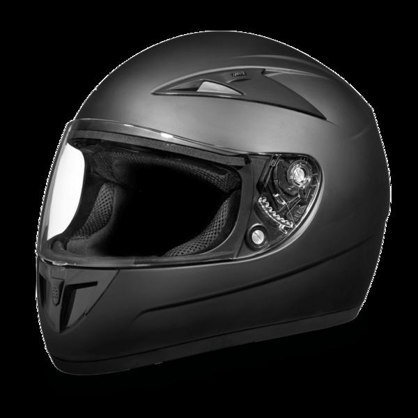 F1-B D.O.T. FULL FACE: DAYTONA SHADOW: DULL BLACK | Full Face Helmets