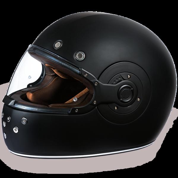 R1-B D.O.T. FULL FACE: DAYTONA RETRO: DULL BLACK | Full Face Helmets