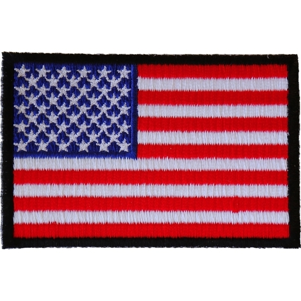 P2046B American Flag Patch with Black Borders | Patches
