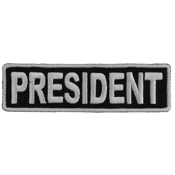P3708 President Patch 3.5 Inch White | Patches