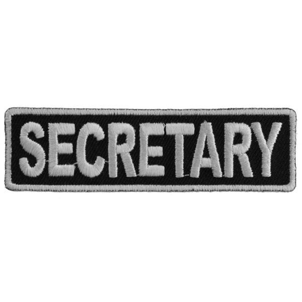 P3711 Secretary Patch 3.5 Inch White | Patches