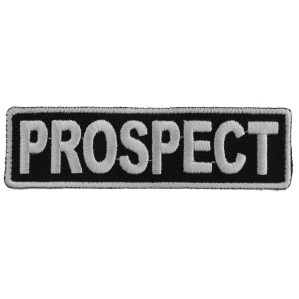 P3709 Prospect Patch 3.5 Inch White | Patches