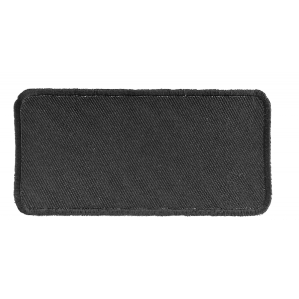 P4035 Black 4 Inch Rectangular Blank Patch | Patches