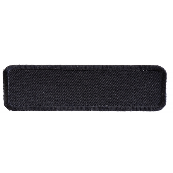 P4034 Black 4 Inch Rectangular Blank Patch | Patches