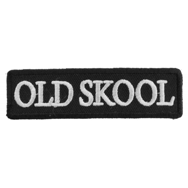 P1411 Old Skool Biker Saying Patch | Patches