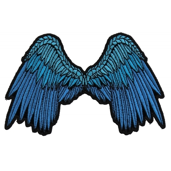 P3200 Small Beautiful Angel Wings Blue Patch | Patches