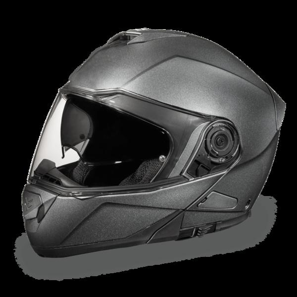 MG1-GM D.O.T. DAYTONA GLIDE- GUN METAL GREY METALLIC | Modular Helmets