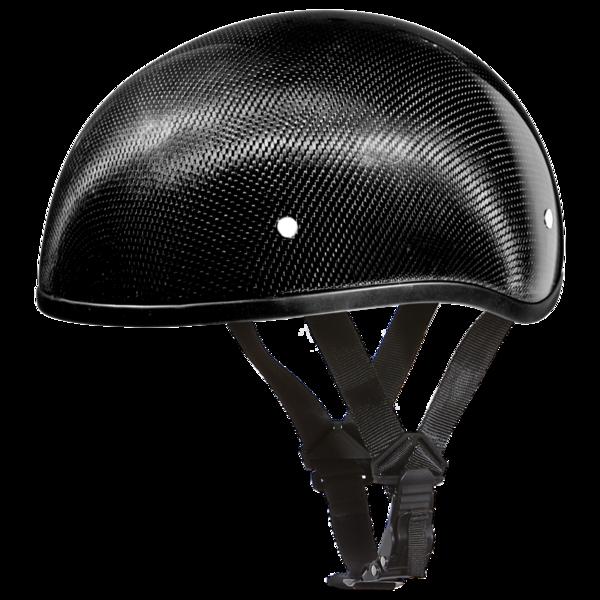 D2-GNS D.O.T. DAYTONA SKULL CAP W/O VISOR- GREY CARBON FIBER | 1/2 Shell Helmets