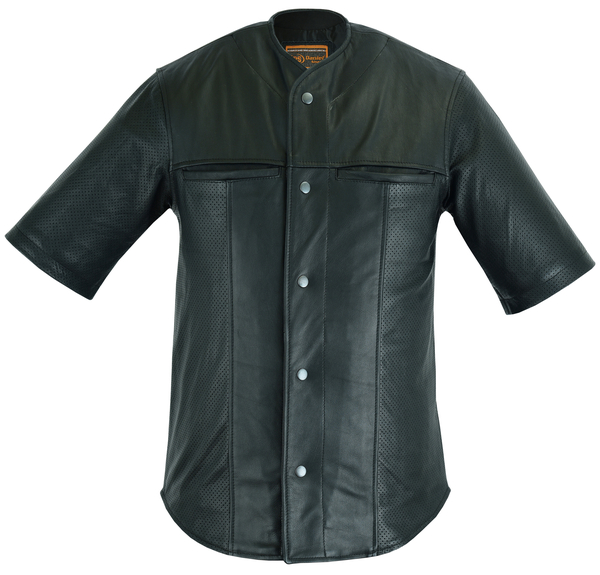 DS775 Leather Baseball Motorcycle Shirt | Men's Leather Jackets