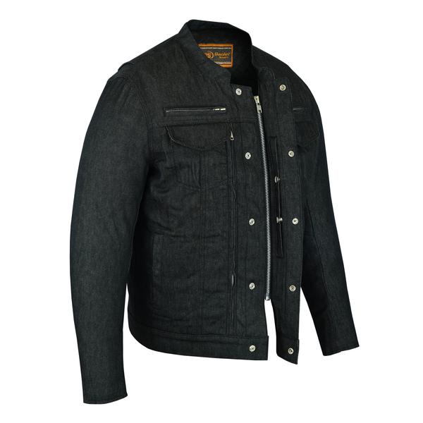 DM915 Men's Rough Rub-Off Raw Finish Denim Jacket | Men's Textile Jackets