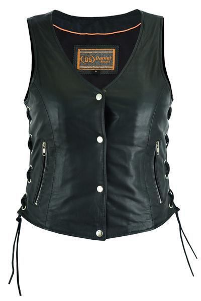 DS294 Women's Full Cut Great Fit Vest | Women's Leather Vests