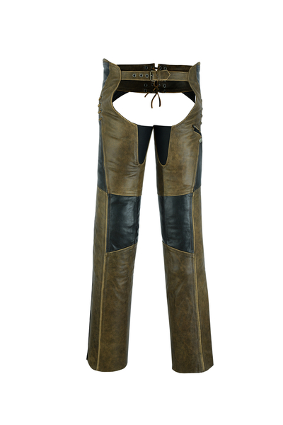 DS498 Women's Stylish Lightweight Hip Set Chaps- Two Tone | Chaps