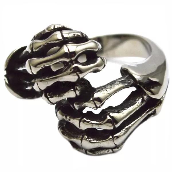 R3002 Stainless Steel Skull Fingers Biker Ring | Rings