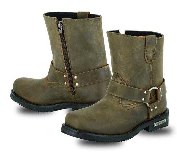 DS9742 Men's Side Zipper Waterproof Boots– Brown | Men's Footwear