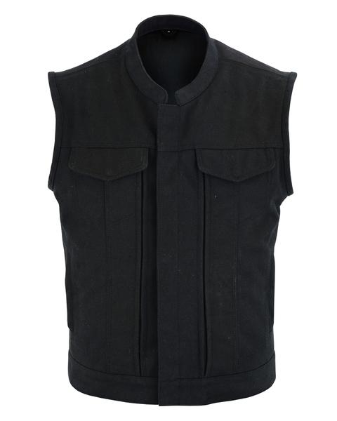 DS909 Men's Modern Utility Style Canvas Vest   Men's Textile Vests