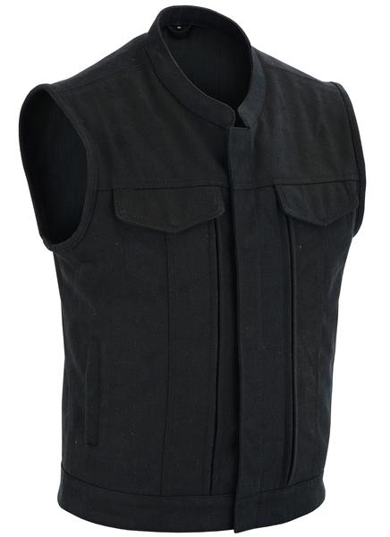 DS909 Men's Modern Utility Style Canvas Vest | Men's Textile Vests