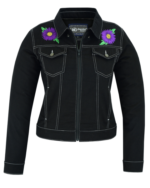 DM949 Women's Daisy Black Denim Jacket | Women's Jackets