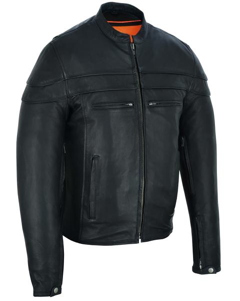 Wholesale Men's Motorcycle Jackets | DS701 Men's Sporty Scooter Jacket