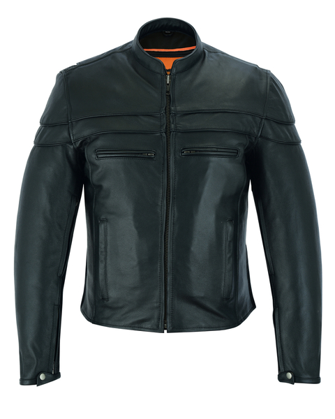 Wholesale Men's Motorcycle Jackets | DS701 Men's Sporty Scooter Jacket