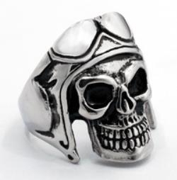 R107 Stainless Steel Biker Skull Biker Ring | Rings