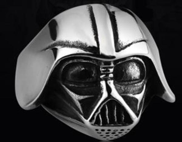 R120 Stainless Steel Star Wars Face Skull Biker Ring | Rings