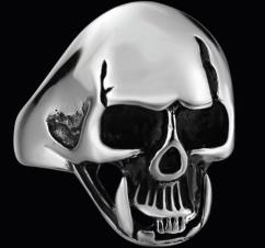 R150 Stainless Steel Cool Biker Skull Biker Ring   Rings