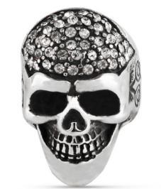 R155 Stainless Steel Diamond Head Biker Ring | Rings