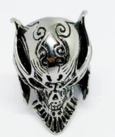 R175 Stainless Steel Lion Mask Biker Ring | Rings