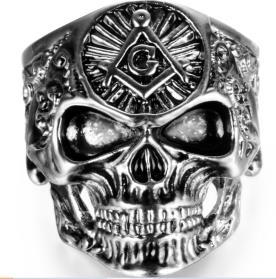 R193 Stainless Steel Large All Seeing Eye Biker Ring | Rings