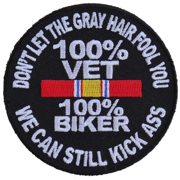 P5010 100 Percent Vet 100 Percent Biker We Can Still Kick Ass Patch | Patches