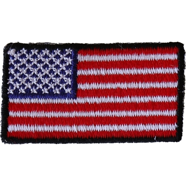 P6554 American Flag Embroidered Iron on Patch | Patches